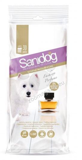 Sanidog Elegance Fashion Perfume Wipes - ароматизирани мокри кърпички за почистване на тяло 30 броя