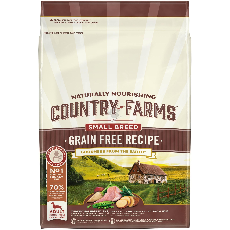 Country Farms Grain Free Small & Mini Turkey - пълноценна храна за кучета малки породи над 12 месечна възраст 2.5 кг.