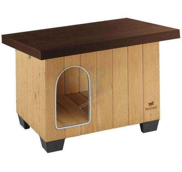 Ferplast - Baita 60 - дървена къща за куче, 73,5 / 59 / 52,5 cm