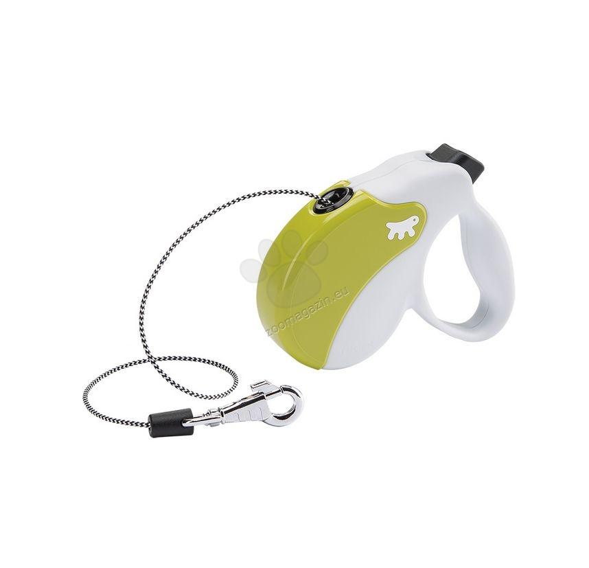 Ferplast - Amigo Cord Mini White Green - 3 метра въже, за кучета с тегло до 12 кг.