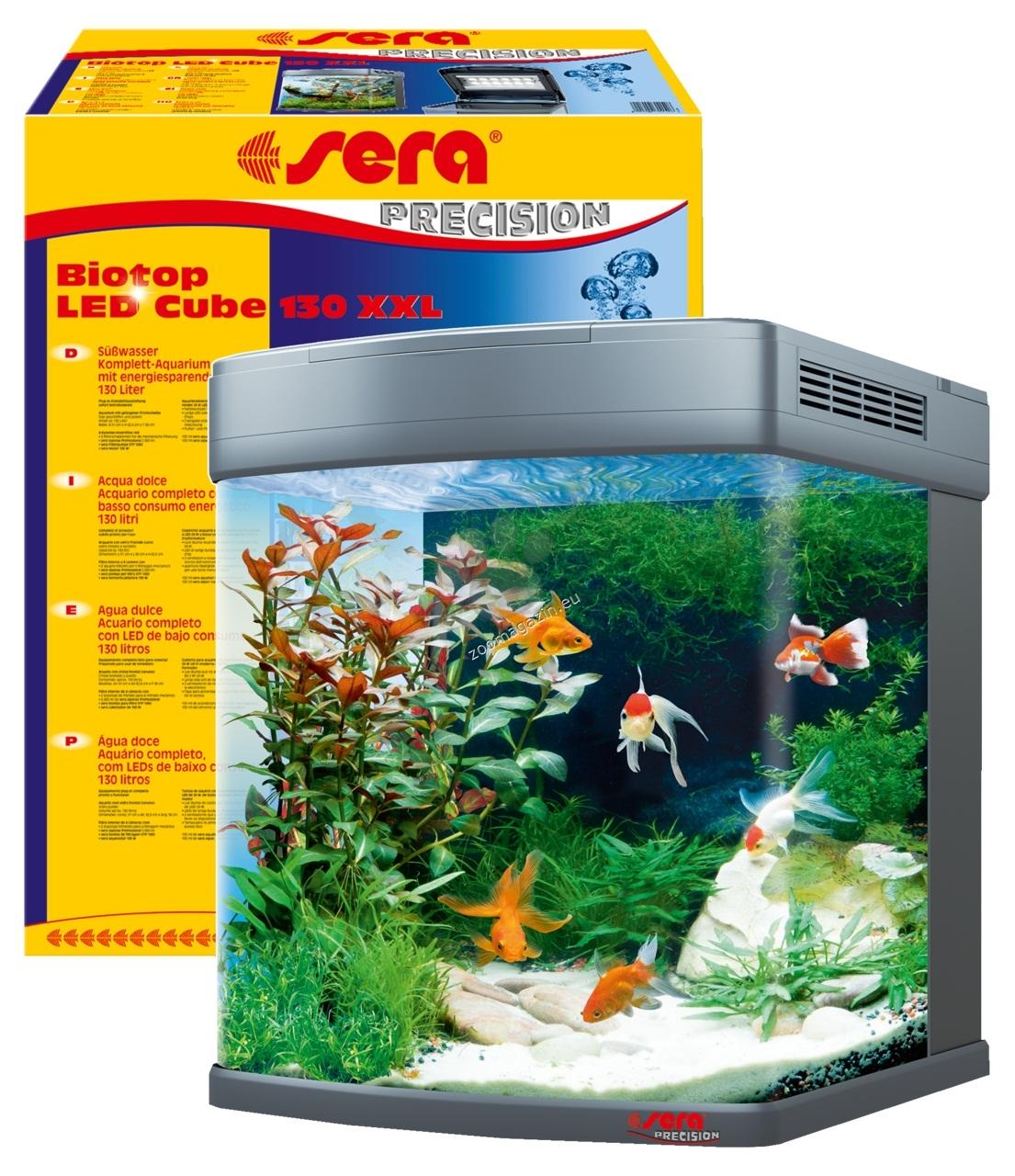 Sera - Biotop LED Cube  130 - аквариум с пълно оборудване 51 / 62.6 / 58 см. 130 литра