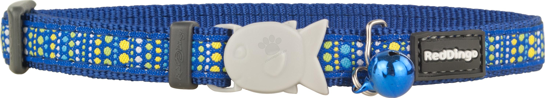 Red Dingo - Cat Collar Lotzadotz Dark Blue - котешки нашийник, 12 мм х 20-32 см
