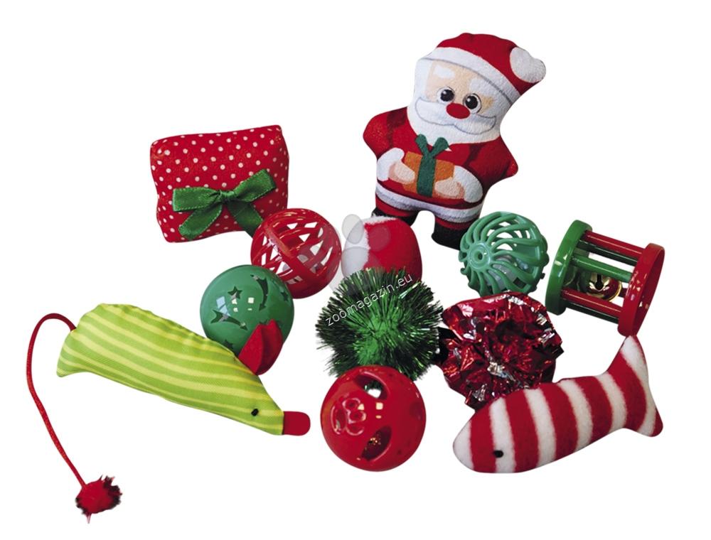 Nobby Christmas toy set cat - комплект 12 броя коледни играчки