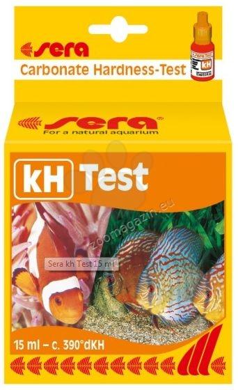 Sera - kH Test - за определяне карбонатната твърдост в сладко- и соленоводни аквариуми 15 мл.