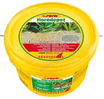 Sera - Floredepot - субстрат при първоначално засаждане на растения или при големи размествания на растения в действащ аквариум 2.4 кг.