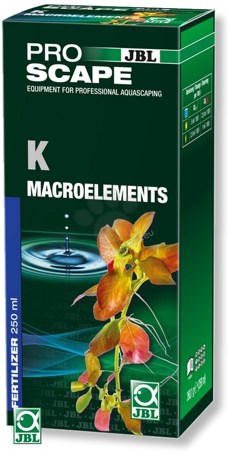 JBL ProScape K + Microelements - основна тор с калий, и пълните микроелементи, необходими за растенията 250 мл.