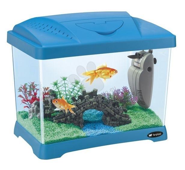 Ferplast - Aquarium Capri Junior Blue - аквариум с пълно оборудване  41 / 26,5 / 34 cm