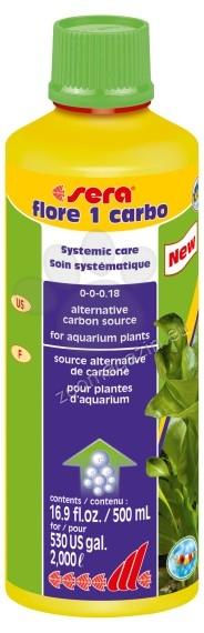 Sera - Flore 1 Carbo - течен въглероден диоксид за аквариумни растения 500 мл.