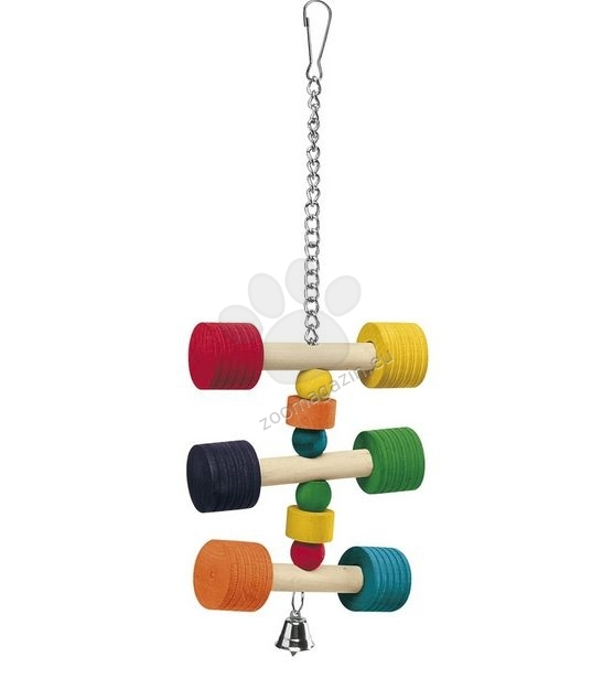 Ferplast - Parrot Toy pa4091 - дървена играчка за средни и големи папагали 11,5 / 11,5 / 31 cm