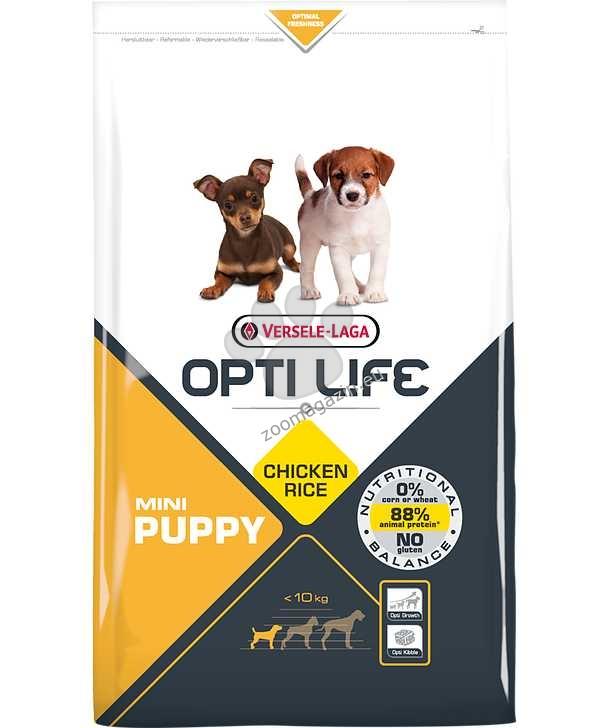 Opti Life Puppy Mini - Балансирана храна с пиле за дребни породи кученца до 10 месеца 2.5 кг.