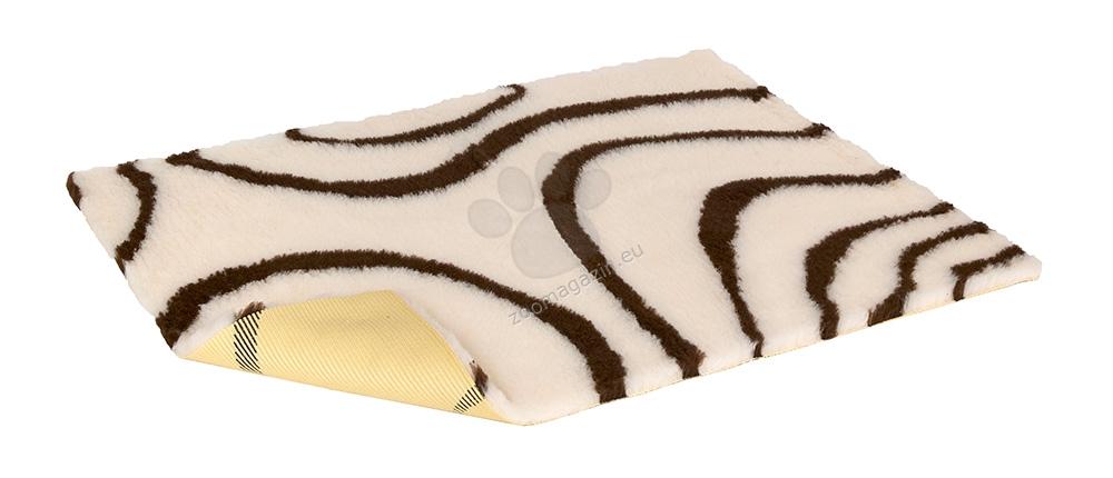 Vetbed Non-Slip Creamwith Brown Swirl - мека постелка със слой против пързаляне 75 / 50 см.