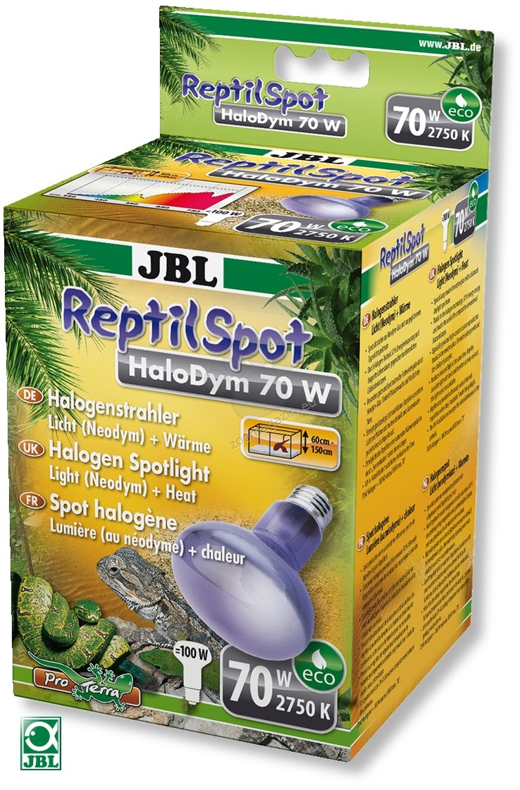 JBL ReptilSpot HaloDym 28 W - крушка за терариум (светлина и топлина UV-А)