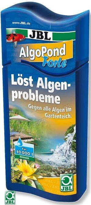 JBL AlgoPond Forte - ефективен в контролирането на растежа на всички видове нежелани водорасли, въздейства директно върху метаболизма на водораслите 500 мл.