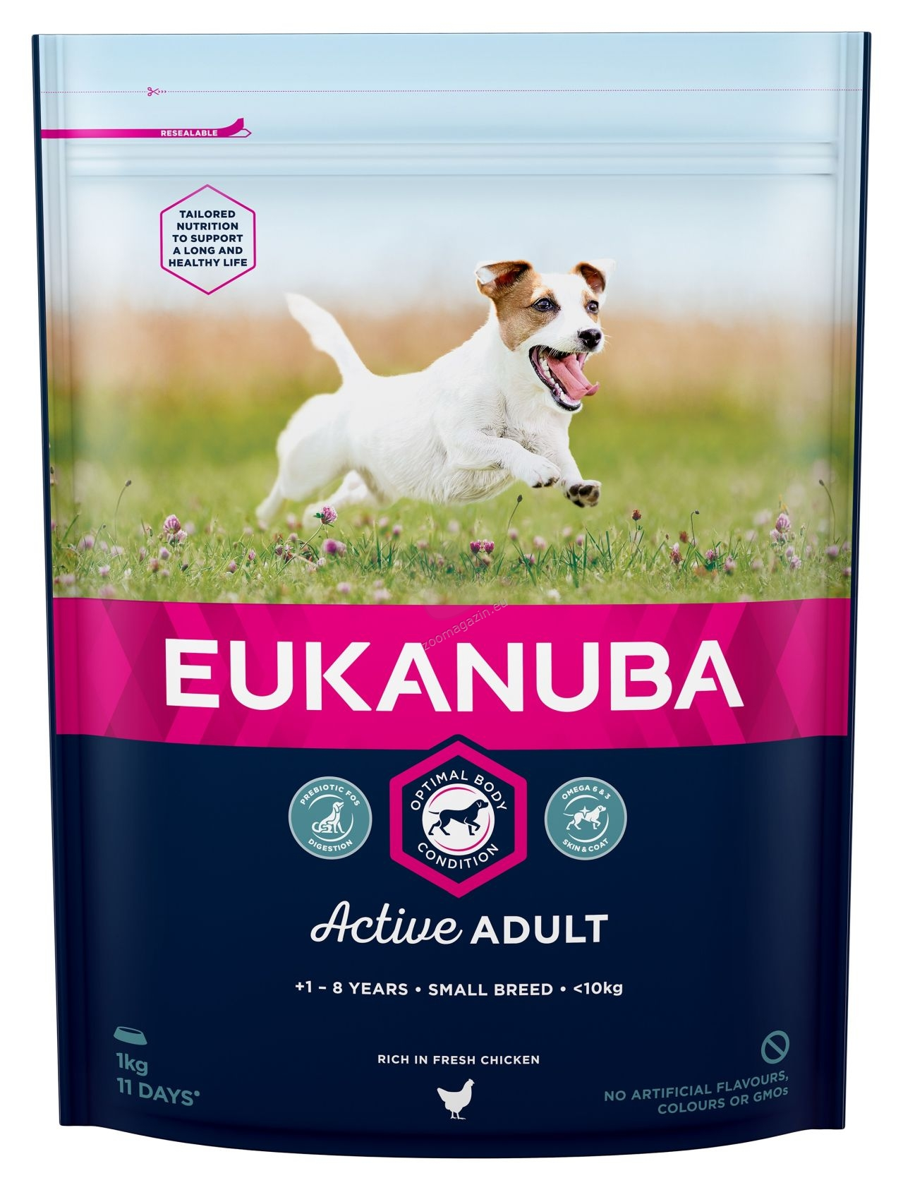 Eukanuba Adult Chicken Small Breed - за кучета малки породи 1-10 кг., и възраст над 12 месеца  1 кг.