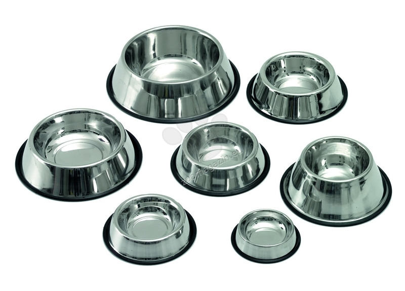 Miazoo Bowls stainless steel - купи за храна и вода с гумен кант 450 мл.