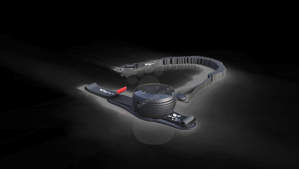 Lishinu Dog Leash Black Big -αυτόματος οδήγος με το