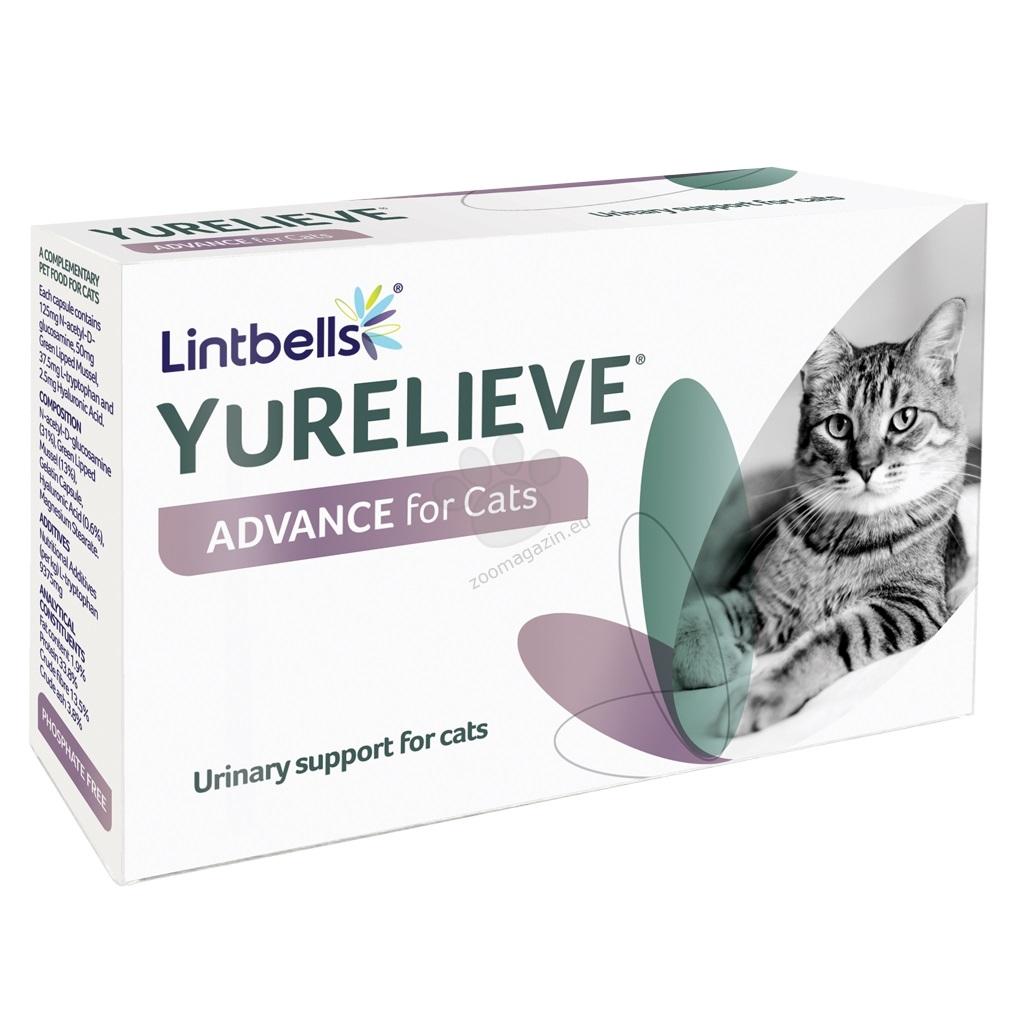 Lintbells - uRelive Advance for Cats - хранителна добавка за профилактика на котки с идиопатичен цистит 30 таблетки