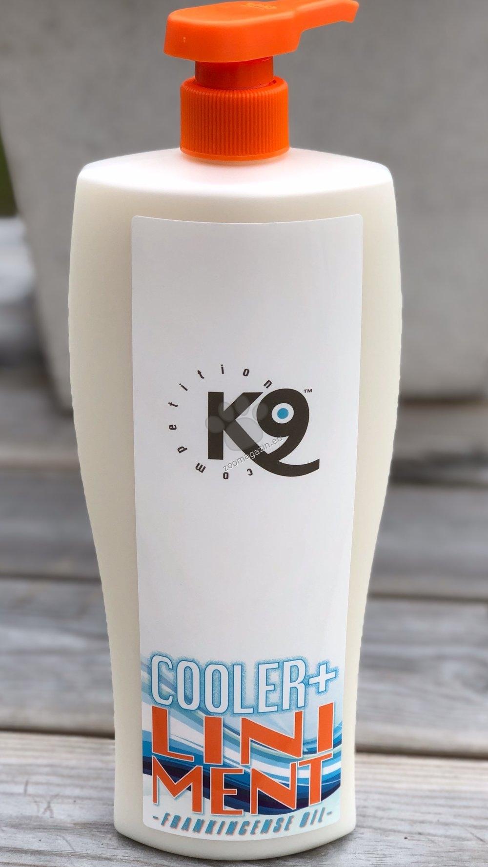 K9 Cooler - с масло от тамян, алое вера, витамин B5 и евкалипт е бързодействащ и успокояващ мехлем, който има охлаждащ ефект 750 мл.