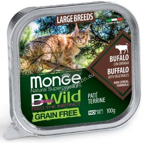 Monge BWILD Grain Free Large Breeds с биволско и зеленчуци – пастет терин без зърнени храни – за котенца и котки в зряла възраст от едрите породи 100 гр.