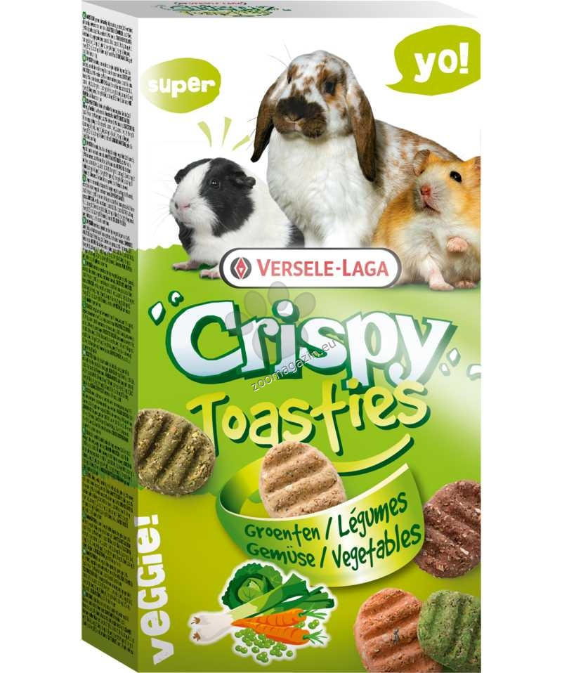 Versele Laga - Crispy Toasties - вкусно лакомство от зърнени култури и пет вида зеленчуци 150 гр.