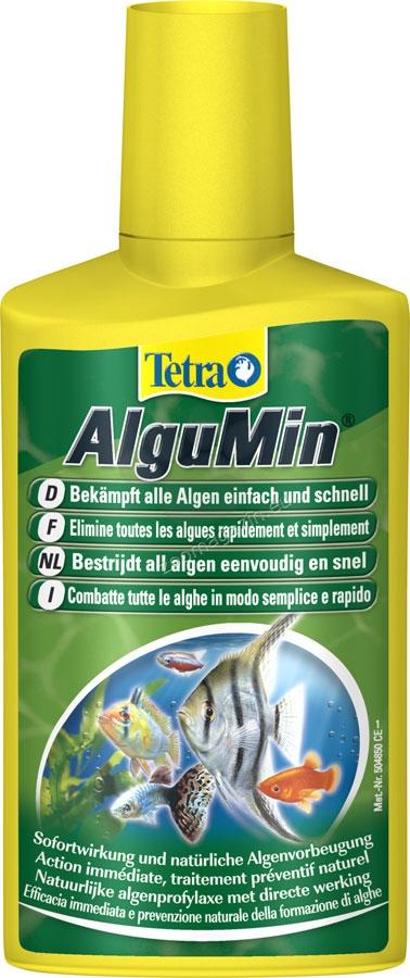 Tetra - AlguMin - препарат за борба с паразитните водорасли и зеленясването на аквариума 100 мл.