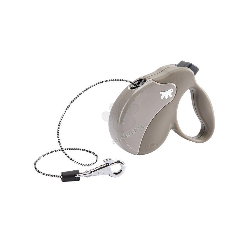 Ferplast - Amigo Cord Mini Dove Grey - 3 метра въже, за кучета с тегло до 12 кг.
