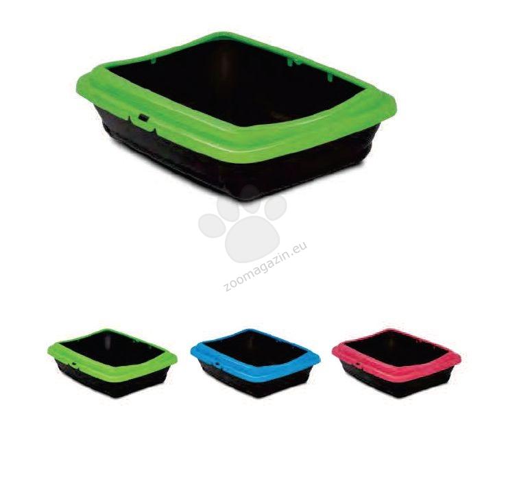 M.P.Bergamo Birba Color - котешка тоалетна с борд 46 / 36 / 12 см. / червена, синя, зелена /
