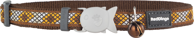 Red Dingo - Cat Collar Monty Brown - котешки нашийник, 12 мм х 20-32 см