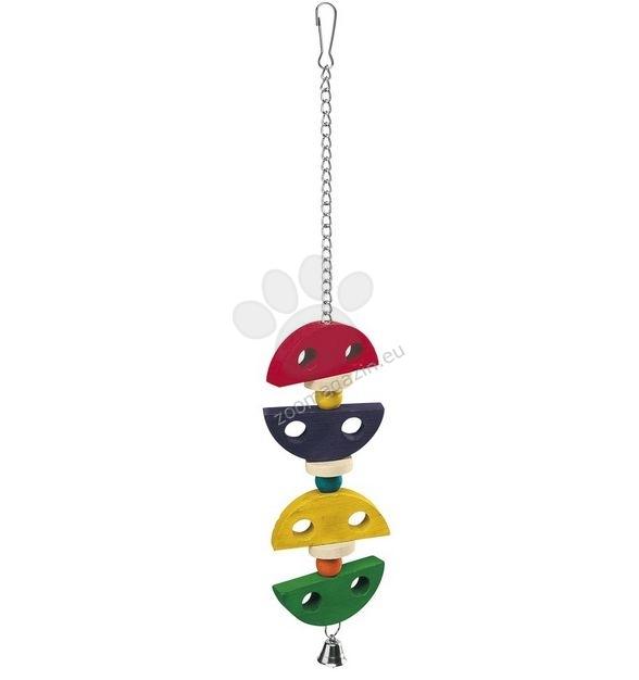 Ferplast - Parrot Toy pa4095 - дървена играчка за средни и големи папагали  7,2 / 1,5 / 43 cm