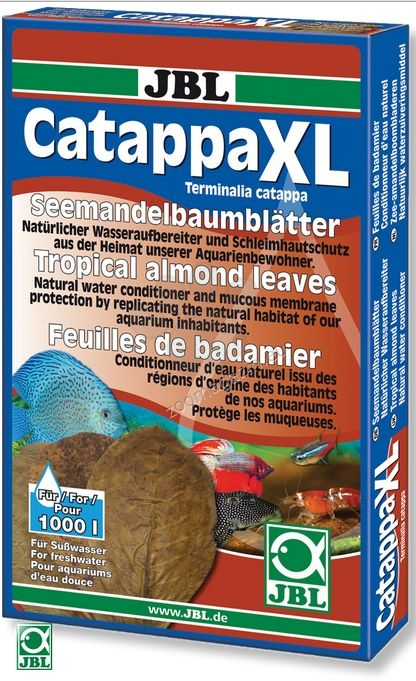 JBL Catappa XL+ - листа от тропически бадем (Terminalia catappa), естествен стабилизатор на водата 10 броя