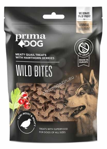 Prima Dog Wild Bites Quail with Hawthorn Berries - деликатесно лакомство с месо от пъдпъдък 150гр.