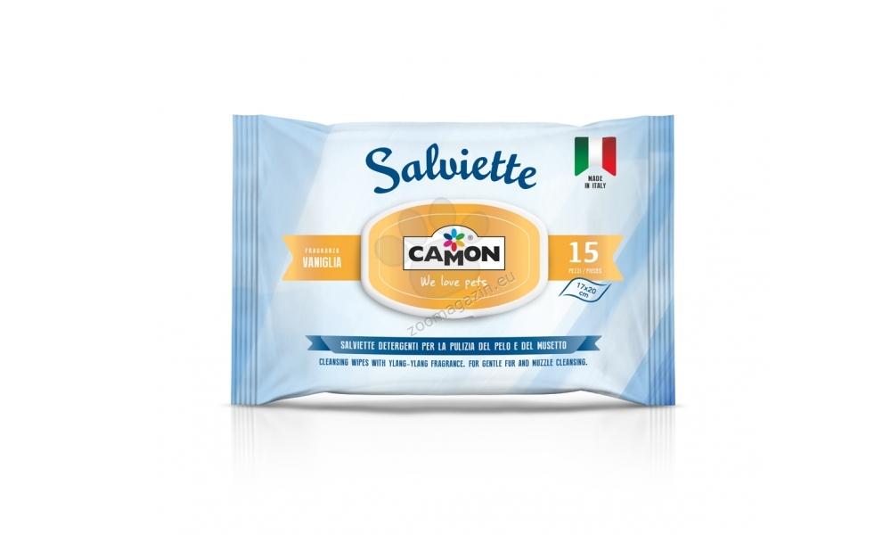 Camon Cleaning Vanilla -υγρά μαντηλάκια με άρωμα βανίλιας για καθαρισμό του τριχώματος και των πατουσών 15 τεμάχια