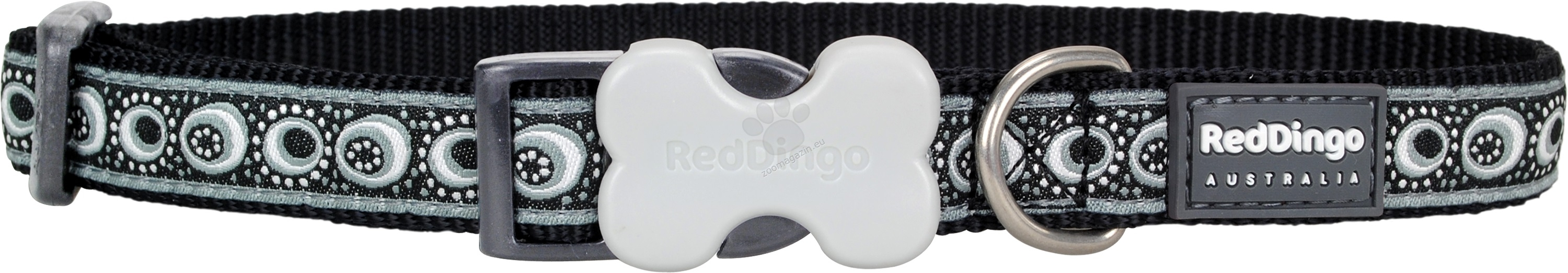 Red Dingo Collar Cosmos Black M - нашийник 31 - 47 см. / 20 мм.