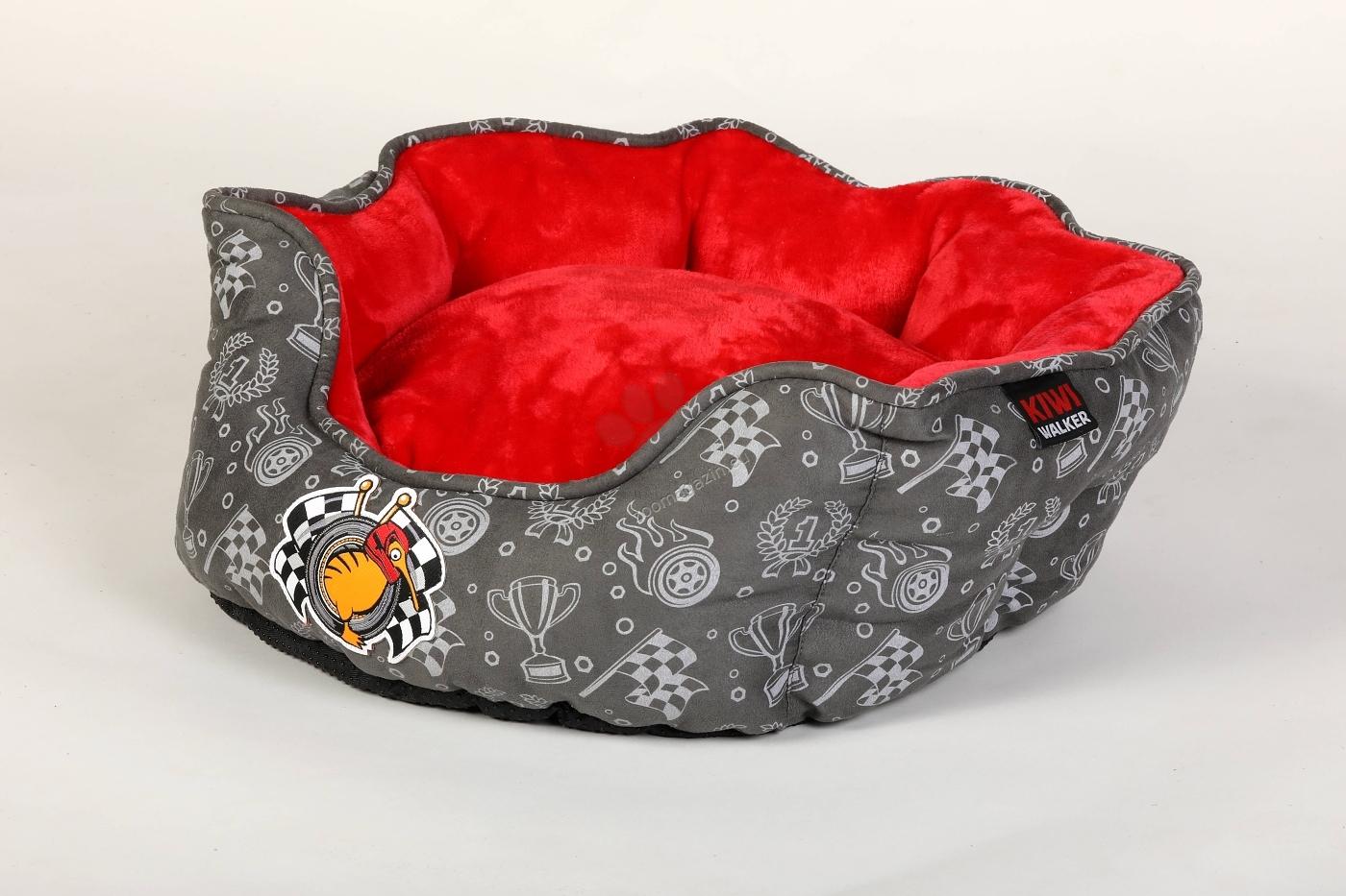Kiwi Walker Bed Base Racer/Sailor XL - ортопедично легло с мемори пяна 65 / 65 / 22 см. / червен, син /