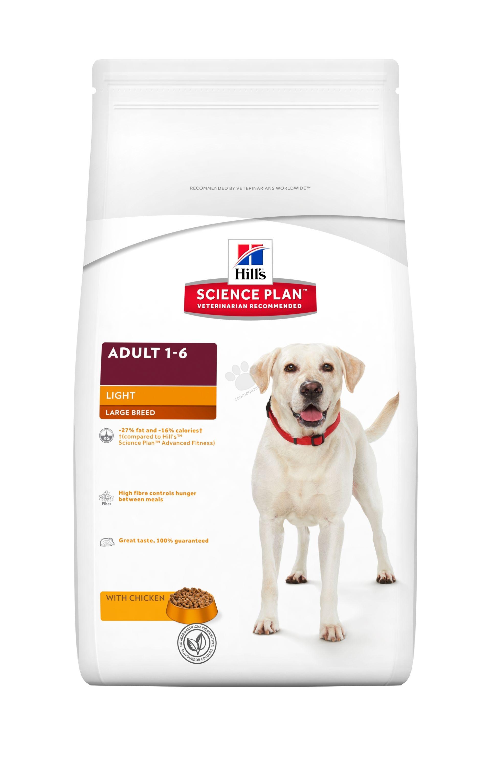 Science Plan Canine Adult Light Large Breed Chicken - Кучета от едри породи над 25кг, с понижени енергийни нужди, на възраст от 1 до 5 години (например кучета с ниска физическа активност, кастрирани или със склонност към натрупване на наднормено тегло) 12 кг.