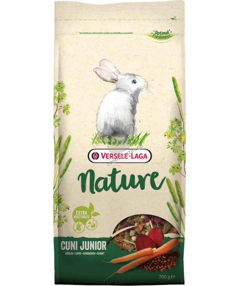 Versele Laga - Nature Cuni Junior - пълноценна храна за мини зайчета до 8 месечна възраст 2.3 кг.