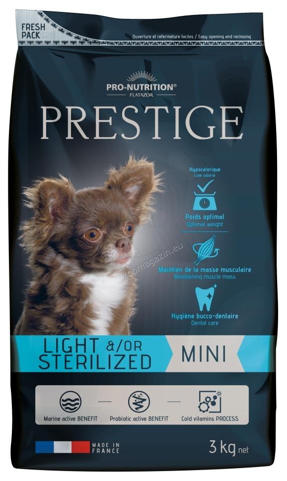 Flatazor Prestige Adult Mini Light / Sterilized - пълноценна храна за кучета малки породи със склонност към напълняване или кастрирани 3 кг.