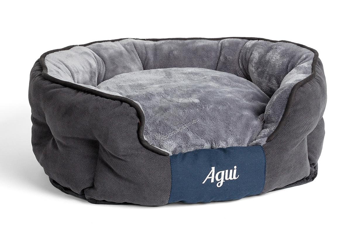 Agui Nevada Bed - луксозно меко легло 65 / 50 см. / сиво, кафяво /