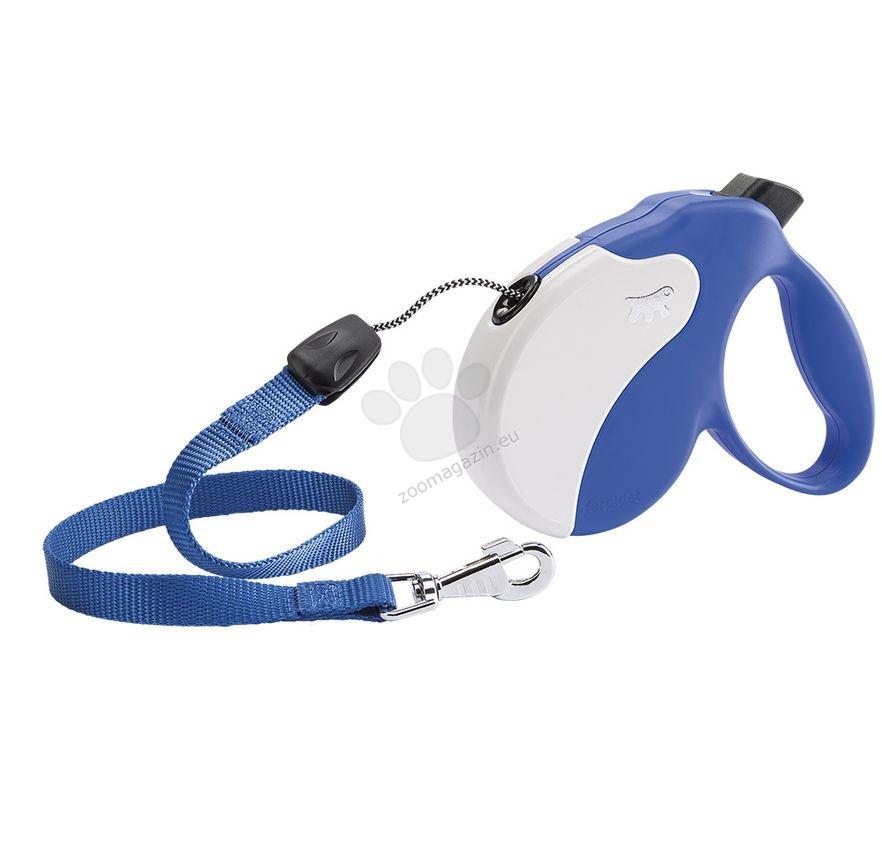 Ferplast - Amigo Cord S Blue White - 5 метра въже, за кучета с тегло до 15 кг.