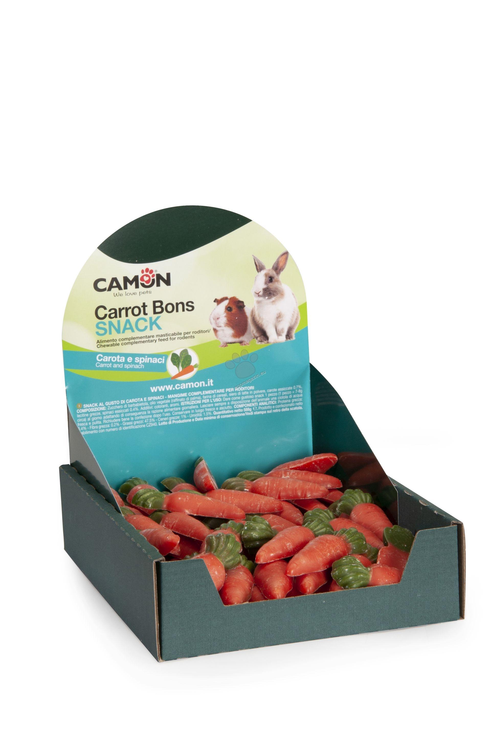 Camon Carrot Bons Snack - деликатесно лакомство с моркови, за мини зайчета 84 броя