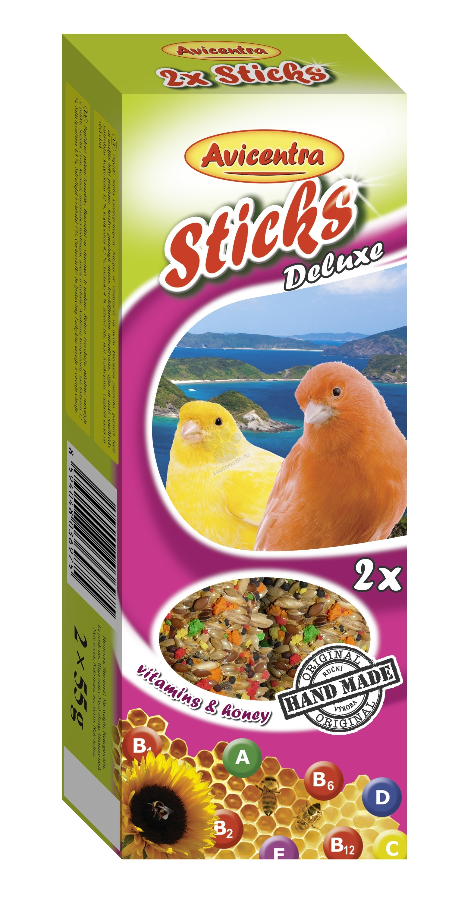 Avicentra Sticks deluxe with vitamins & honey for canaries - хрекер с мед и витамини 2 броя