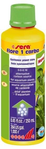 Sera - Flore 1 Carbo - течен въглероден диоксид за аквариумни растения 250 мл.