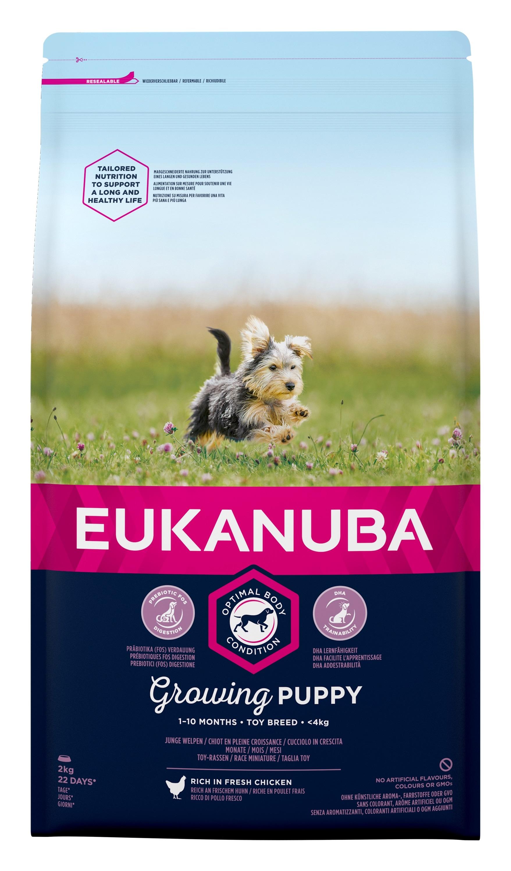 Eukanuba Puppy Toy Breed - за кучета малки породи до 4 кг., и възраст от 1 до 10 месеца 2 кг.