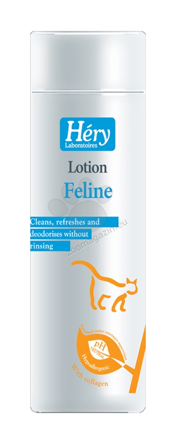 Hery Feline lotion - λοσιόν καθαρισμού για γάτες χωρίς πλύσιμο, 200 ml.