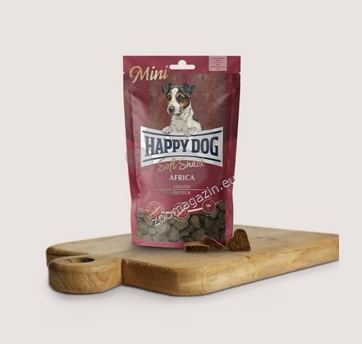 Happy Dog Mini Africa - мек снакс с месо от щраус за малки породи 100 гр.