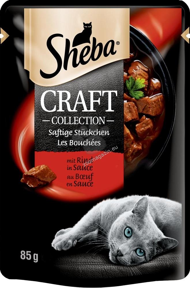 Sheba Craft Collection - паучове с телешко месо 12 х 85 грама
