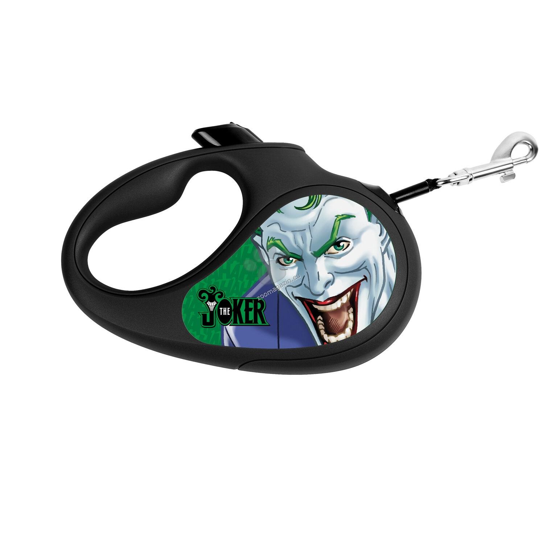 Waudog Joker Green L - автоматичен дизайнерски повод 5 метра, за кучета до 50 кг.