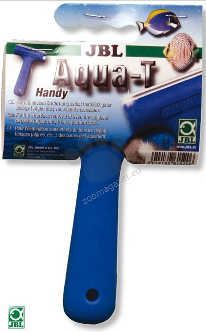 JBL Aqua-T Handy - шпатула за почистване на стъклата на аквариума 70мм острие от неръждаема стомана