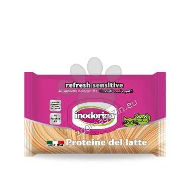 Inodorina Refresh Sensitive Proteine de Latte - мокри кърпички с млечен протеин 40 бр.