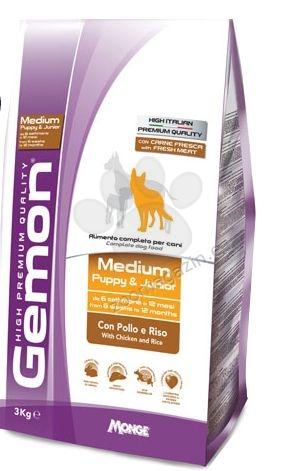 GEMON Medium&Maxi junior chicken&rice–за подрастващи кучета от едрите породи с пилешко и ориз  15 кг.
